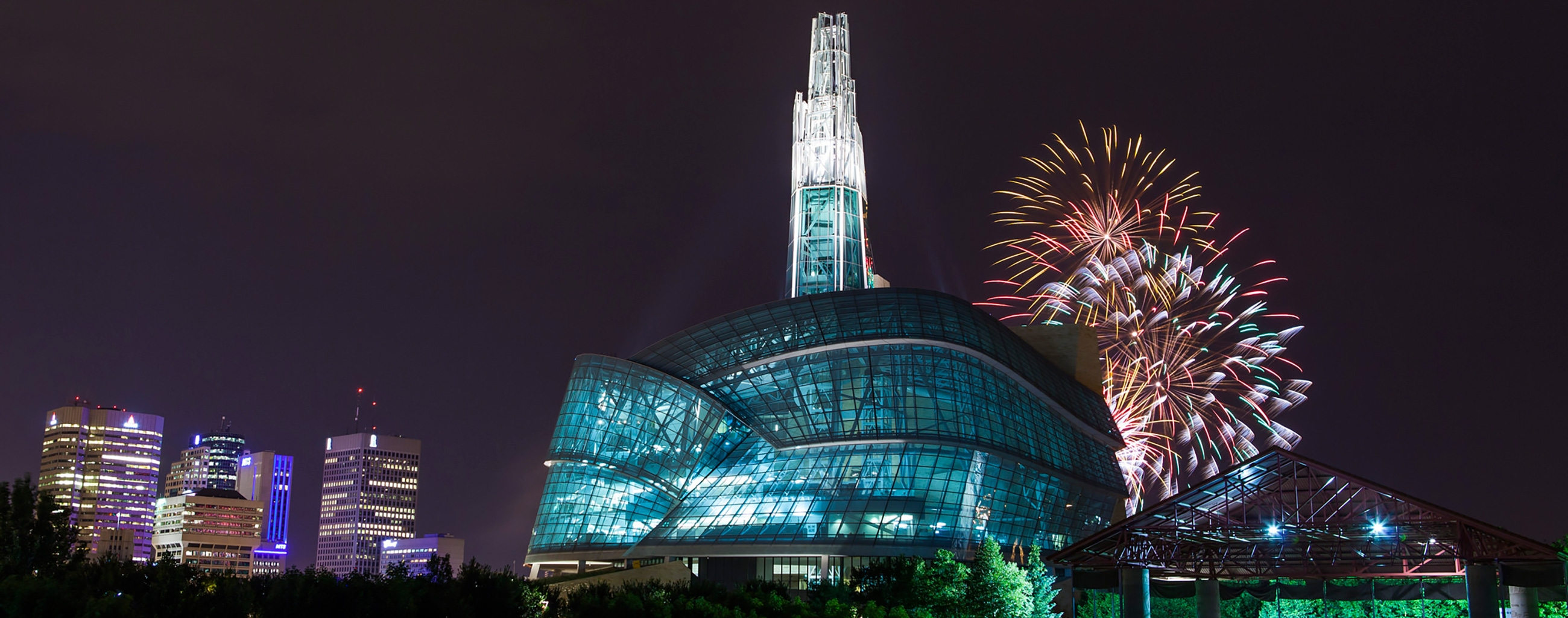 Canadian Museum for Human Rights Fireworks
